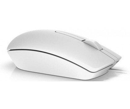 Dell Przewodowa mysz optyczna USB biała MS116