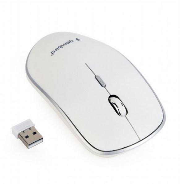 Gembird Mysz optyczna bezprzewodowa biała