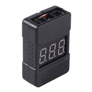 Mini tester z alarmem, miernik napięcia pakietów LiPo 2-8S - BX100