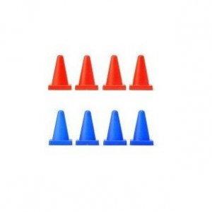 Pachołki L939 Speed Flux - 8 sztuk (plastik, 4 niebieskie, 4 czerwone)
