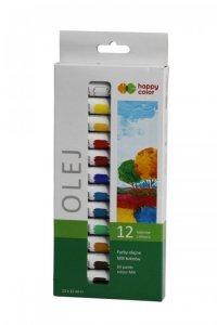 Farba olejna (zestaw 12 kolorów) - 12ml