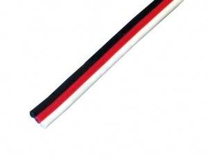 Przewód serwa trójżyłowy płaski Futaba 22AWG/0,33mm2 (1m)