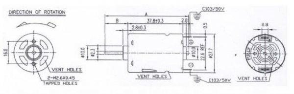 Silnik SWIFT 400 6.0V