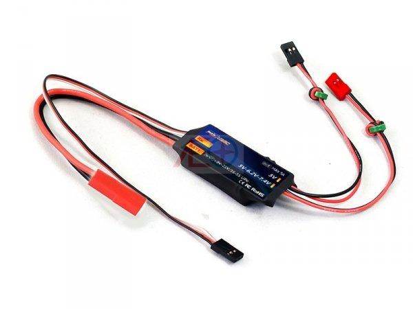 Regulator napięcia DWhobby UBEC Dual R/C 5V 6.2V 7.4V (sterowane PWM, miernik prądu)