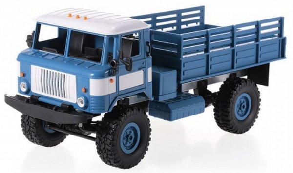 Ciężarówka wojskowa WPL B-24 (1:16, 4x4, 2.4G, LiPo) - Niebieski