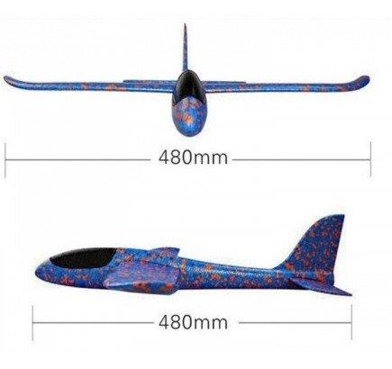 Szybowiec z dwoma trybami latania (rozpiętość 480mm) - Pomarańczowy
