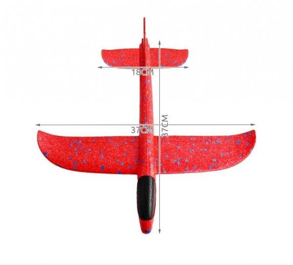 Szybowiec z dwoma trybami latania (rozpiętość 480mm) - Czerwony