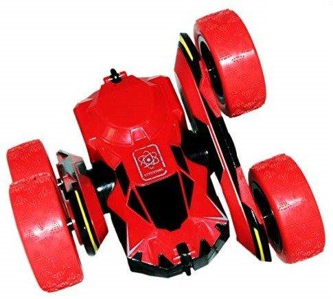 Mini samochód wyczynowy RC 1:28 - Czerwony