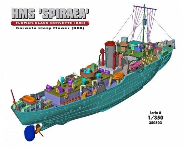 """HMS """"SPIRAEA"""" Brytyjska Korweta klasy Flower K08"""