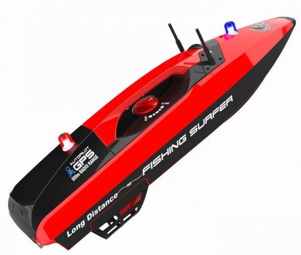 Łódka zanętowa Fishing Surfer GPS 2.4GHz RTR - czerwona