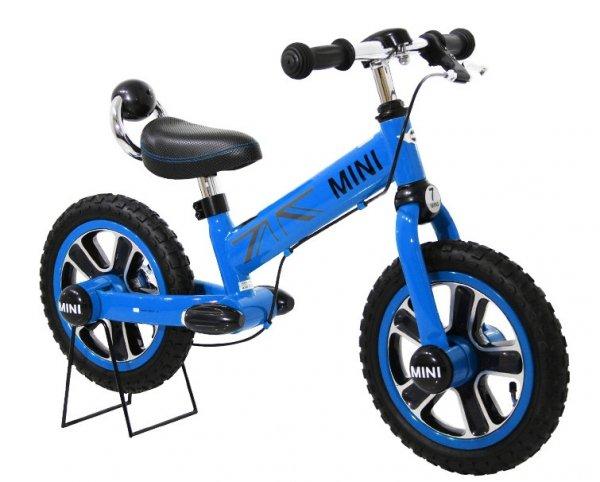 Rowerek biegowy MINI z hamulcem - niebieski