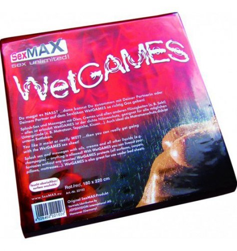JoyDivision SexMAX WetGAMES Sex-Laken 180 x 220 (czerwone)