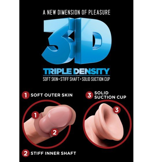 """King Cock Plus 7,5"""" Triple Density Cock with Balls"""