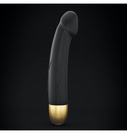 Wibrator Dildo rozm. M -Dorcel Real Vibration M Black & Gold 2.0