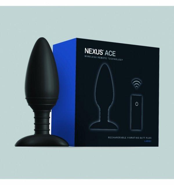 Wibrujący korek analny - Nexus Ace Large