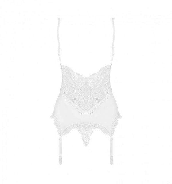 Gorset i stringi 810-COR  biały S/M