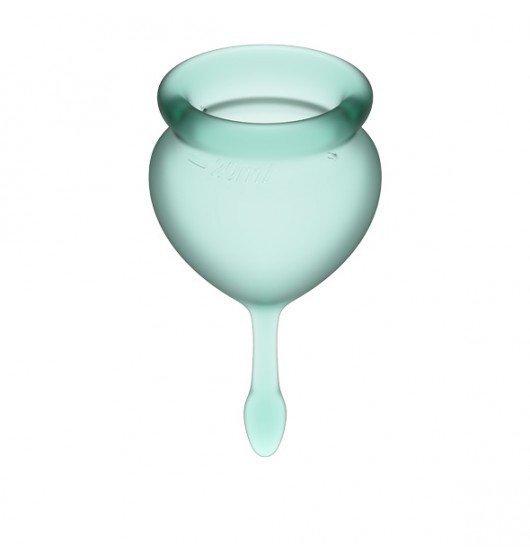 Kubeczki Menstruacyjne Satisfyer Feel Good Menstrual Cup Set Dark Green