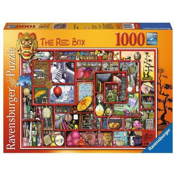 RAVEN. 1000 EL. Czerwone Pudełko