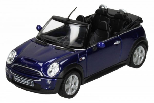 WELLY Mini Cooper S Cabr io, niebieskiMINI COOPER