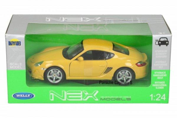 Porsche Cayman, żółte