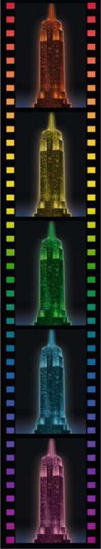 216 ELEMENTÓW 3D Empire State Building LED Night