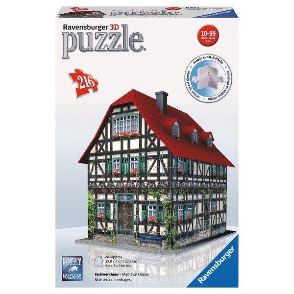 216 ELEMENTÓW 3D Średniowieczny Dom