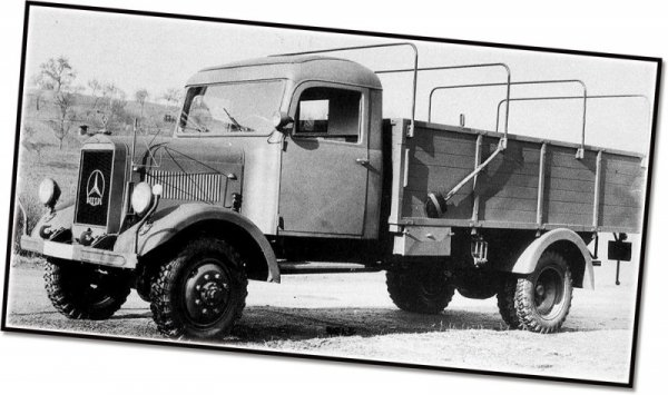 Klocki Historical Collection Mercedes Benz L 3000