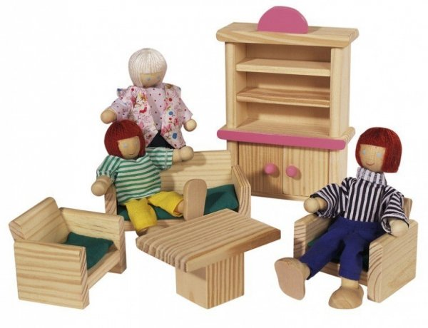 Drewniana Willa z mebelkamii figurkami