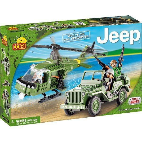 Klocki Jeep Willys z helikopterem 250 elementów