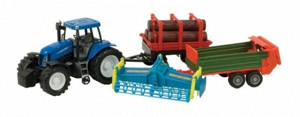 Zestaw Traktor + 3 maszyny rolnicze