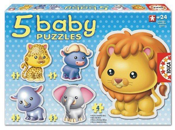 Puzzle Baby 19 elementów Zwierzęta