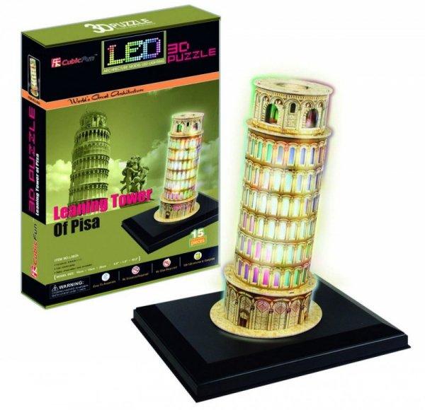 Puzzle 3D Krzywa Wieża Pisa (Światło)