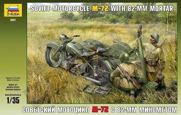 Soviet Motorcycle M-72 with