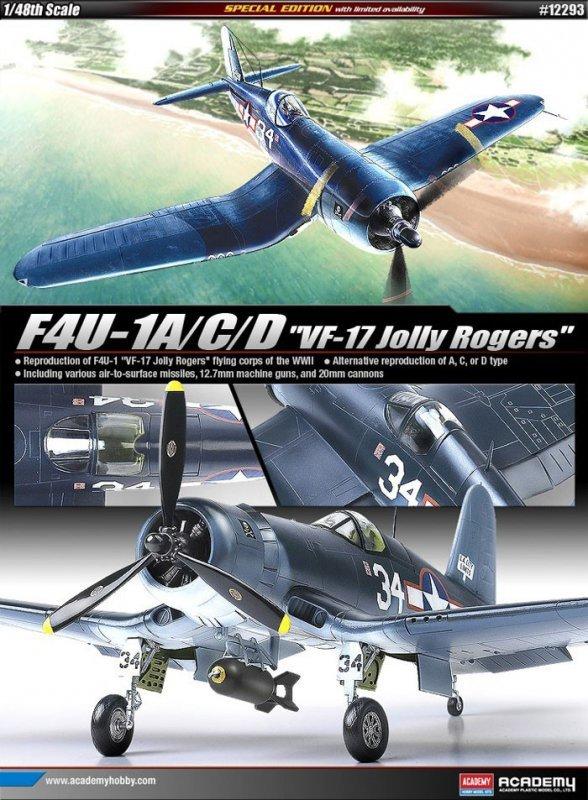 ACADEMY F4U-1A/C/D VF-17 Jolly Rogers
