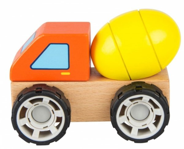 Klocki drewniane samochód Betoniarka
