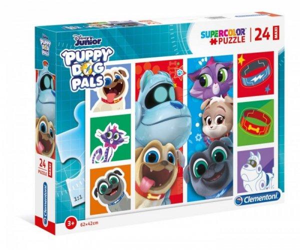 Puzzle 24 elementy Maxi Super Kolor Puppy Dog Pals
