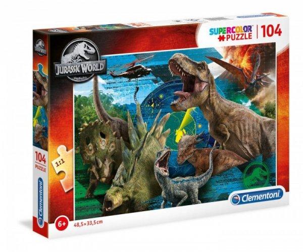 Puzzle 104 elementów Super Kolor Jurassic World