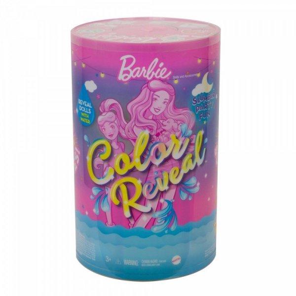 Lalka Barbie Color Reveal Pidżama Party Zestaw