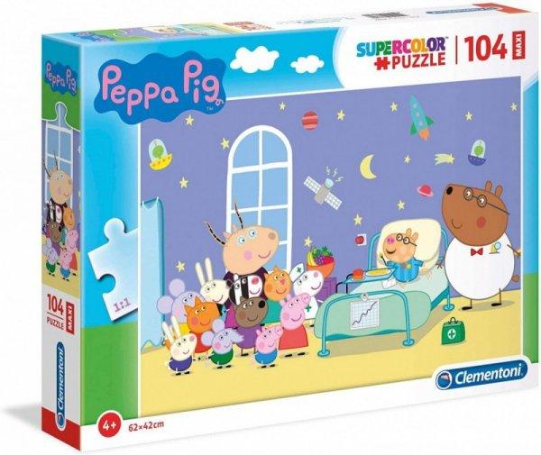 Puzzle 104 elementy Maxi Świnka Peppa