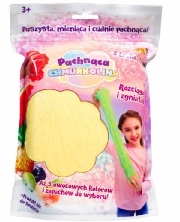 Masa plastyczna Chmurkolina pachnąca Big Pack żółty brokat