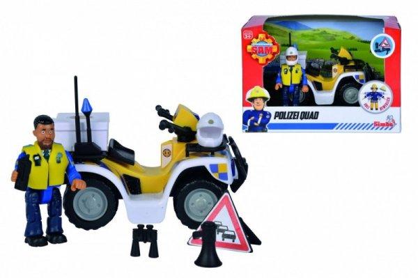 Pojazd Strażak Sam Quad  policyjny z figurką