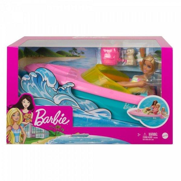 Lalka Barbie + Motorówka