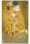 Gustav Klimt Pocałunek - parasol długi ze skórzaną rączką