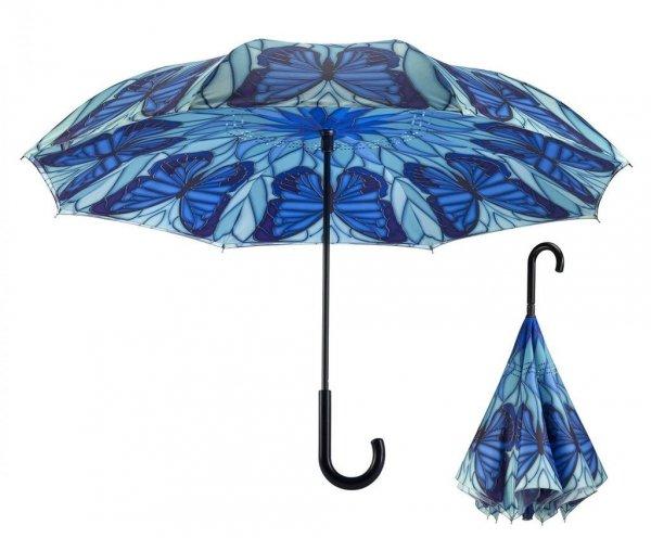 Witraż Motyle - parasol odwrotny automat Galleria