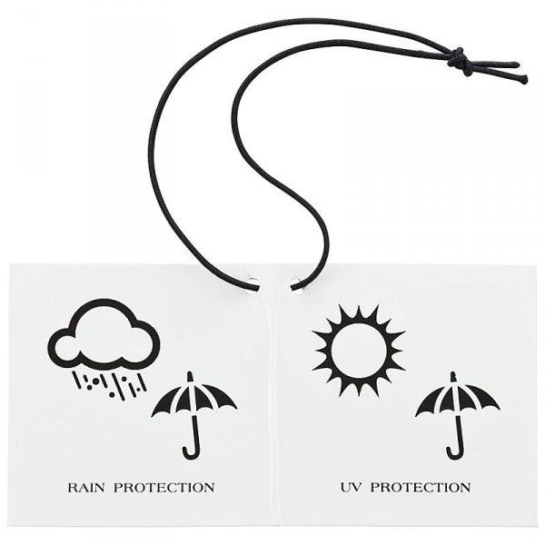 Margerytka - Parasol długi ze skórzaną rączką