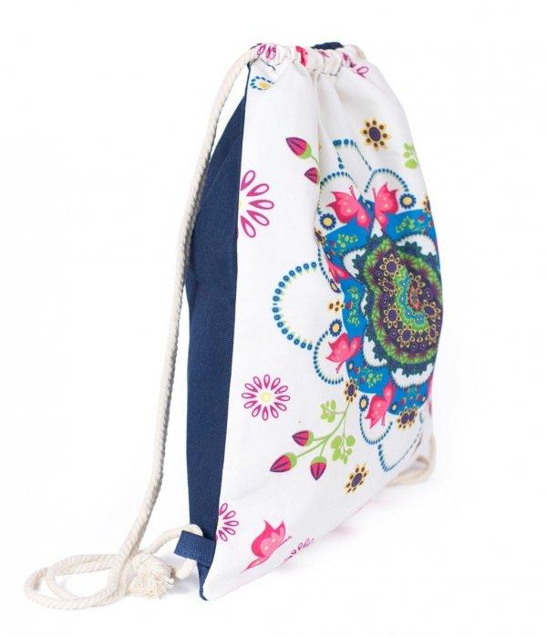 Plecak worek mandala z motylami