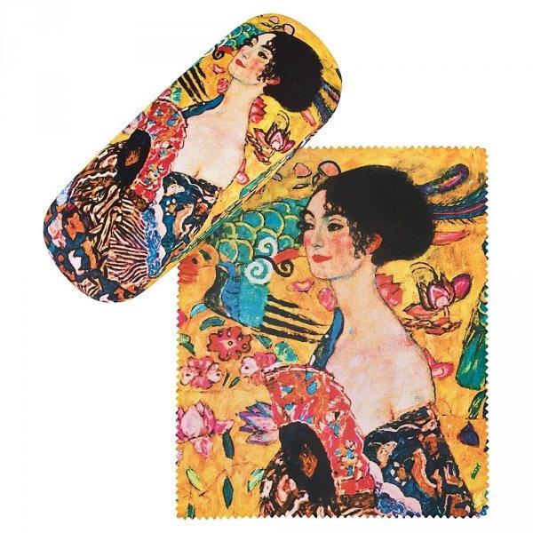"""Gustav Klimt """"Dama z wachlarzem"""" - etui na okulary Von Lilienfeld"""