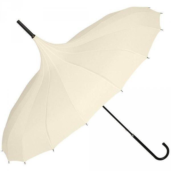 Fabienne kremowa gładka parasolka pagoda Von Lilienfeld