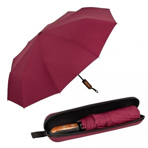 Clark burgund elegancki parasol 10-drutowy w etui Von Lilienfeld