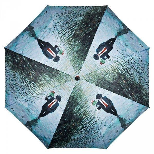Romance by Theo Michael - długi parasol ze skórzaną rączką